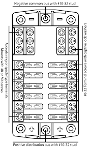 fuse block box holder caravan marine dual battery 12 volt 12v 12 way RV Panel Box Rv Camper Fuse Box #48