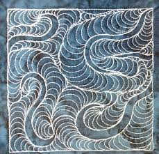 The Free Motion Quilting Project: Day 319 - Moon Feathers & free motion quilting | Leah Day Adamdwight.com