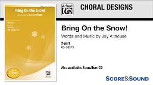 The Biggest Brightest Holiday Lights Lyrics Bring On The Snow By Jay Althouse Score Sound