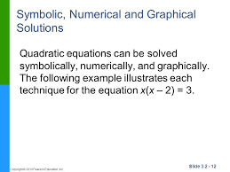 symbolic numerical and graphical solutions