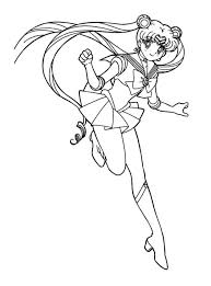 Small Picture Sailor Moon Coloring Pages Online Four Sailors Coloring Pages