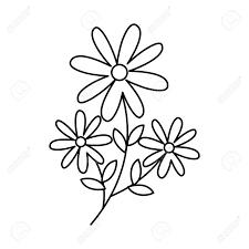 かわいい庭の花装飾アイコン ベクトル イラスト デザイン