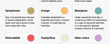 Kidney Failure Urine Color Chart This Handy Infographic Shows What The Colour Of Your Pee