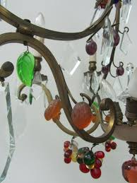 vintage italian murano glass and fruit chandelier