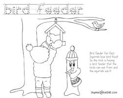 Small Picture Coloring Page Bird feeder Sophie and Sadie
