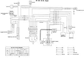 honda nx650 wiring diagram of the electrical system 59296 honda st50 uk model wiring diagram