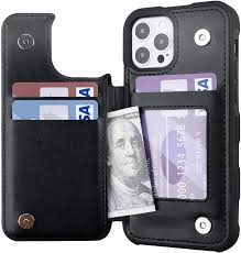 Amazon.com: Restoo Compatible with iPhone 12 Pro Max Case,Wallet Case with  Card Holder PU Leather 4 Card Slot Back Flip Cover for iPhone 12 Pro Max  6.7 inch,Black