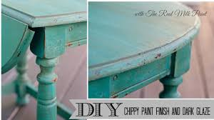 how to get a chippy furniture finish with milk paint and dark glaze