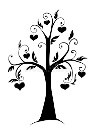 hearts silhouette the tree in the hearts stock vector illustration of shelter 44205725