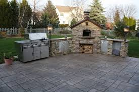 stamped concrete patio with fireplace. Fire Pit With Stamped Concrete Patio Fireplace McHugh\u0027s Decorative