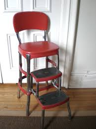 Kitchen Chair Red Cosco Kitchen Chair With Step Stool