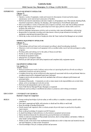 Equipment Operator Resume Samples Velvet Jobs