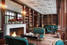 decor design hilton: text  library la reserve jacques garcia