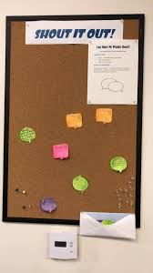 Office bulletin board design Teamwork Shout Out Bulletin Board Snacknation 25 Office Bulletin Board Ideas To Create Buzz Around Your Office