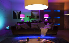 under furniture lighting. phillips hue lights are awesomeunder couchon top of cabinet accent could under furniture lighting