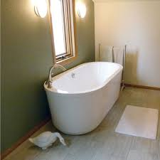 bathroom white acrylic boat shaped stand alone tubs using goose neck faucet tub gorgeous drop