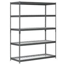 steel freestanding shelving unit edsal 5 tier steel freestanding shelving unit edsal steel freestanding shelving unit