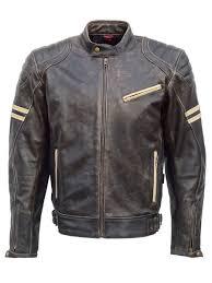 jts hero leather retro motorcycle jacket