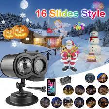 Christmas Animated Laser Light Double Head Christmas Pattern Slides Laser Proejctor Light