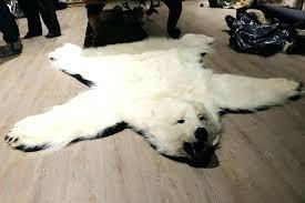 real polar bear rug polar bear rug white fake fur polar bear skin rug for