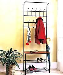shoe rack coat hanger clever clothes and shoe racks metal entryway storage bench coat rack coat shoe rack coat