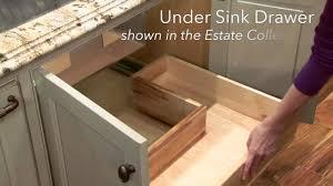 Storage Solutions Under Sink Drawer Youtube