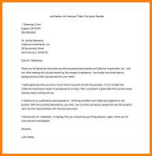 7 Example Of Thank You Letter After Interview Precis Format