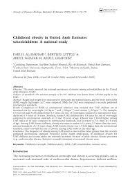 Child Obesity Chart Pdf Childhood Obesity In United Arab Emirates