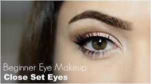 beginner eye makeup for close set eye