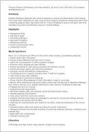 Associate Resume 1 Operations Associate Resume Templates Try Them Now Myperfectresume
