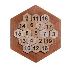 Wooden Math Games Funny Geometric Shape Number Puzzle Children Wooden Number Board 28