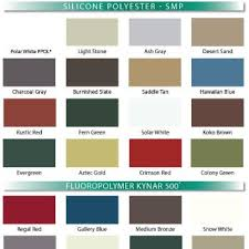 Mueller Metal Buildings Color Chart Mueller Sheet Metal Roofing Home Decor Interior Design And