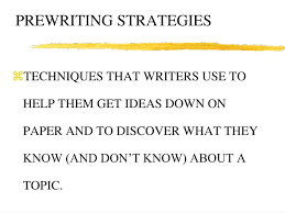 Prewriting Techniques Ppt Prewriting Strategies Powerpoint Presentation Id 2337708
