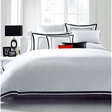 hotel collection comforter set. Hotel Luxury 3pc Duvet Cover Set- Elegant White/Black Trim Quality Design- Wrinkle \u0026 Fade Resistant Bedding - King/Cal King. By HC COLLECTION Collection Comforter Set B