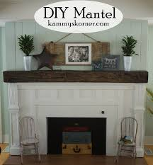 Railroad Tie Mantle kammys korner beautiful built mantel from scraps fireplace 2 7658 by xevi.us