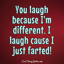 Different Quotes Unique You Laugh Because I'm Different I Laugh Cause I Just Farted