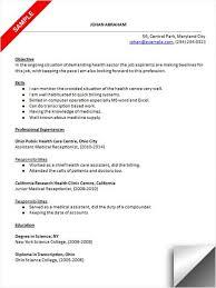 Sample Medical Receptionist Resumes Medical Receptionist Resume Sample Job Resume Samples