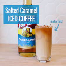 Place sugar, corn syrup and 1/4 cup water in small pot. Torani Salted Caramel Iced Coffee Salted Caramel Iced Coffee Torani Syrup Recipes Salted Caramel Coffee