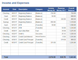 excel spreadsheet download income and expense tracking worksheet