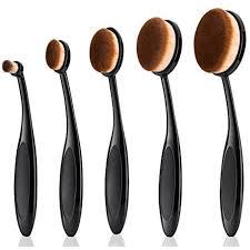 makeup brush yiercolor 5pcs super soft oval toothbrush makeup brush set foundation brushes contour powder