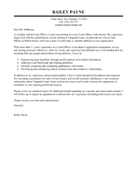 Leading Professional Loan Officer Cover Letter Examples Resources