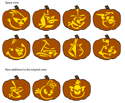 Free homemade jack-o-lantern stencils based on Angry Birds Space