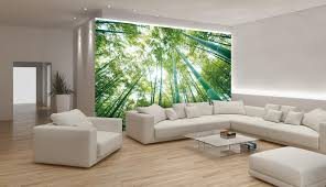Modern Wall Murals Awesome Bamboo Wall Mural In Green For Living Room Decoration Come