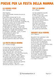 50 Poesie per la Festa della Mamma per Bambini | Festa della mamma, Poesie  mamma, Poesia
