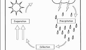 Water Cycle Coloring Page Water Cycle For Kids Coloring Page