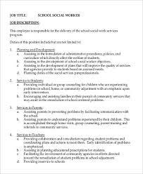 Social Work Intern Job Description. Social Work Intern Job ...