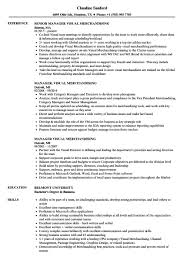 Visual Merchandiser Resume New Manager Visual Merchandising Resume Samples Livoniatowingco 53