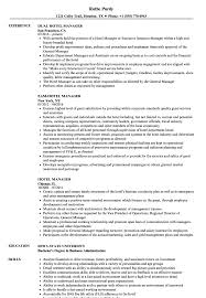 Hotel Manager Resume Sample Hotel Manager Resume Samples Velvet Jobs 2