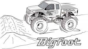 10 Elegant Monster Truck Coloring Pages Coloring Page