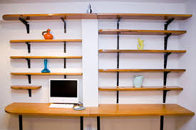 office desk shelving. Perfect Shelving Wall Mounted Desks For Saving Space  Modern Reclaimed Wood Desk Inside Office Shelving D
